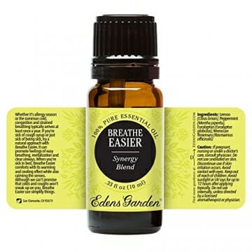 Breathe Easier 100% Pure Therapeutic Grade Synergy Blend Essential Oil by Edens Garden-10 ml, GC/MS tested, CPTG - 2