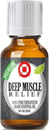 Deep Muscle Relief Blend 100% Pure, Best Therapeutic Grade Essential Oil - 30ml / 1 (oz) Ounce - Wintergreen, Peppermint, Chamomile Blue, Eucalyptus, Camphor - 1