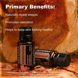 doTERRA Cedarwood Essential Oil - Naturally Repels Insects, Promotes Relaxation, Helps to Keep Skin Looking Healthy; for Diffusion, Internal, or Topical Use - 15 ml - 6
