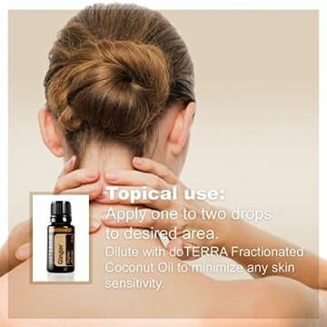 doTERRA Ginger Essential Oil - May Help to Support Healthy Digestion, May Help to Reduce Bloating, Gas, Occasional Indigestion, and Occasional Nausea; For Diffusion, Internal, or Topical Use - 15 ml - 6