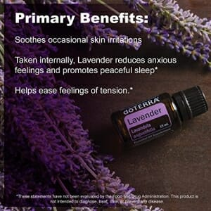 doTERRA Lavender Essential Oil - Promotes Calm, Relaxation, Peaceful Sleep, Tension Relief, and Soothing of Skin Irritation; For Diffusion, Internal, or Topical Use - 15 ml - 7