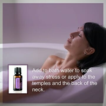 doTERRA Lavender Essential Oil - Promotes Calm, Relaxation, Peaceful Sleep, Tension Relief, and Soothing of Skin Irritation; For Diffusion, Internal, or Topical Use - 15 ml - 9