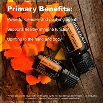 doTERRA Wild Orange Essential Oil - Powerful Cleanser and Purifying Agent, Supports Healthy Immune Function, Uplifts Mind and Body; For Diffusion, Internal, or Topical Use - 15 ml - 7