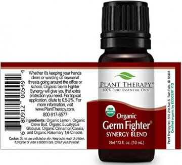 Plant Therapy Germ Fighter Organic Synergy Essential Oil 10 mL (1/3 oz) 100% Pure, Undiluted, Therapeutic Grade - 2