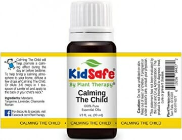 Plant Therapy KidSafe Calming the Child Synergy Essential Oil Blend. 100% Pure, Undiluted, Therapeutic Grade. Blend of: Chamomile Roman, Lavender, Mandarin and Tangerine. 10 mL (1/3 Ounce) - 2