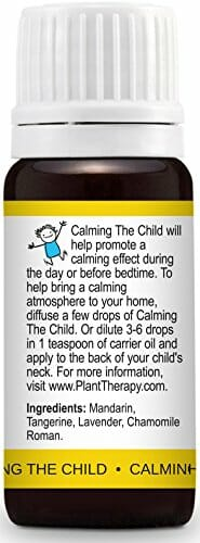 Plant Therapy KidSafe Calming the Child Synergy Essential Oil Blend. 100% Pure, Undiluted, Therapeutic Grade. Blend of: Chamomile Roman, Lavender, Mandarin and Tangerine. 10 mL (1/3 Ounce) - 4