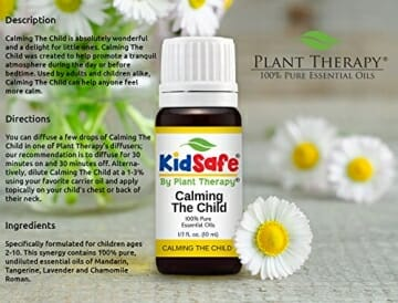 Plant Therapy KidSafe Calming the Child Synergy Essential Oil Blend. 100% Pure, Undiluted, Therapeutic Grade. Blend of: Chamomile Roman, Lavender, Mandarin and Tangerine. 10 mL (1/3 Ounce) - 6