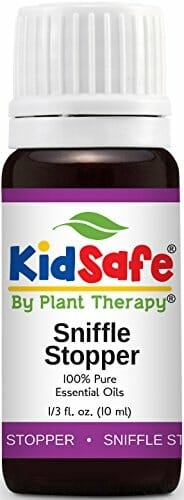 Plant Therapy KidSafe Sniffle Stopper Synergy Essential Oil Blend. Blend of: Fir Needle, Rosalina, Spruce, Cypress, Spearmint and Cedarwood Virginian. 10 ml (1/3 oz). - 1