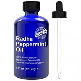 Radha Beauty Essential Oil 4 oz - 100% Pure (Peppermint) - 1