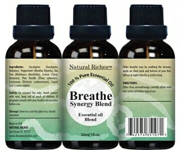 Respiratory Essential Oil Breathe Blend 30ml - 100% Natural Pure Therapeutic Grade for Aromatherapy, Scents & Diffuser - Sinus Relief, Allergy, Congestion, Cold, Cough, Headache - 2