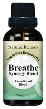 Respiratory Essential Oil Breathe Blend 30ml - 100% Natural Pure Therapeutic Grade for Aromatherapy, Scents & Diffuser - Sinus Relief, Allergy, Congestion, Cold, Cough, Headache - 1