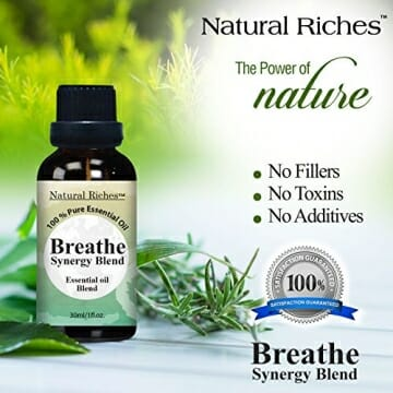 Respiratory Essential Oil Breathe Blend 30ml - 100% Natural Pure Therapeutic Grade for Aromatherapy, Scents & Diffuser - Sinus Relief, Allergy, Congestion, Cold, Cough, Headache - 5