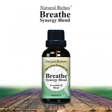 Respiratory Essential Oil Breathe Blend 30ml - 100% Natural Pure Therapeutic Grade for Aromatherapy, Scents & Diffuser - Sinus Relief, Allergy, Congestion, Cold, Cough, Headache - 7