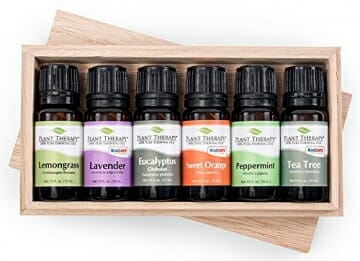 Top 6 Essential Oil Sampler Set. Includes 100% Pure, Undiluted, Therapeutic Grade Essential Oils of Lavender, Eucalyptus, Sweet Orange, Peppermint, Lemongrass and Tea Tree. 10 ml each - 1