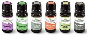 Top 6 Essential Oil Sampler Set. Includes 100% Pure, Undiluted, Therapeutic Grade Essential Oils of Lavender, Eucalyptus, Sweet Orange, Peppermint, Lemongrass and Tea Tree. 10 ml each - 8