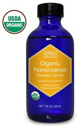 Zongle USDA Certified Organic Frankincense Essential Oil, Safe To Ingest, Boswellia Serrata, 1 oz - 1