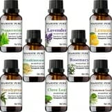MajesticPure Aromatherapy Essential Oils Set, Includes Lavender, Frankincense, Peppermint, Eucalyptus, Lemon, Clove Leaf, Cinnamon Leaf & Rosemary Oils- Pack of 8-10 ml each - 1