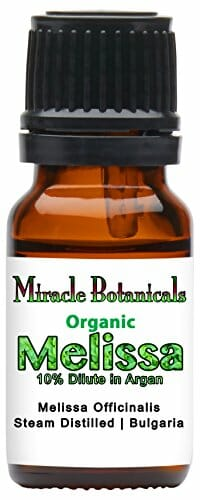 Miracle Botanicals Organic Melissa Officinalis Essential Oil 10% Dilute in Golden Argan - 10ml or 30ml Sizes - Therapeutic Grade - 10ml - 1