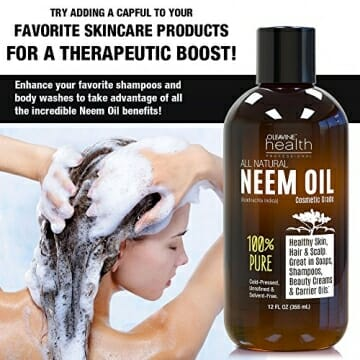 Neem Oil Organic & Wild Crafted Pure Cold Pressed Unrefined Cosmetic Grade 12 oz for Skincare, Hair Care, and Natural Bug Repellent by Oleavine - 3