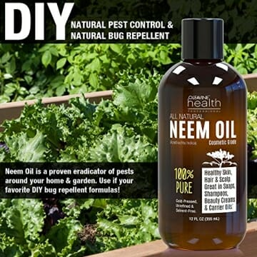 Neem Oil Organic & Wild Crafted Pure Cold Pressed Unrefined Cosmetic Grade 12 oz for Skincare, Hair Care, and Natural Bug Repellent by Oleavine - 5