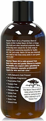 Neem Oil Organic & Wild Crafted Pure Cold Pressed Unrefined Cosmetic Grade 12 oz for Skincare, Hair Care, and Natural Bug Repellent by Oleavine - 7