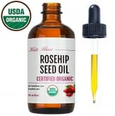 Rosehip Seed Oil by Kate Blanc. USDA Certified Organic, 100% Pure, Cold Pressed, Unrefined. Reduce Acne Scars. Essential Oil for Face, Nails, Hair, Skin. Therapeutic AAA+ Grade. 1-Year Guarantee (1oz) - 1