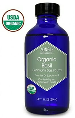 Zongle USDA Certified Organic Basil Essential Oil, Safe to Ingest, Ocimum Basilicum, 1 oz - 1