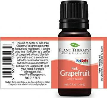 Plant Therapy Grapefruit Pink Essential Oil 10 mL (1/3 oz) 100% Pure, Undiluted, Therapeutic Grade - 2